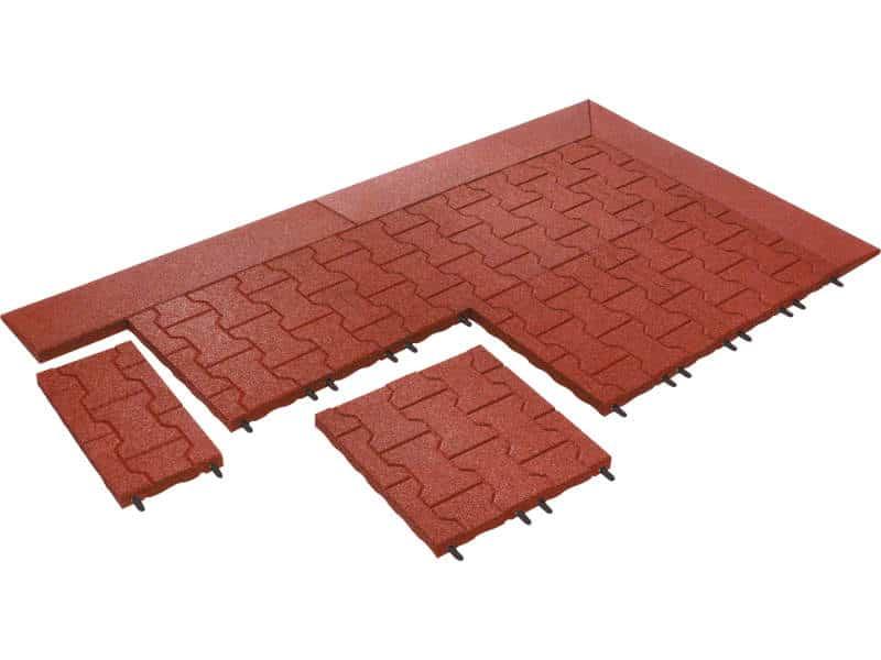 KOMFORTEX H-Stein- Platte rot